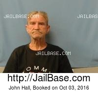 JOHN HALL mugshot picture