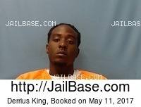 DERRIUS KING mugshot picture