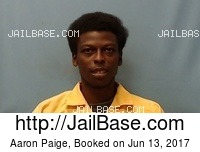 AARON PAIGE mugshot picture