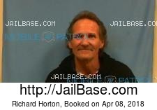 Richard Horton mugshot picture