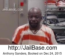 Anthony Sanders mugshot picture