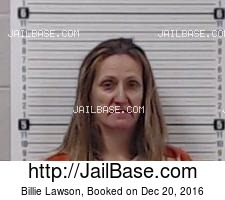 Billie Lawson mugshot picture