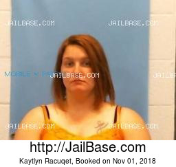 Kaytlyn Racuqet mugshot picture
