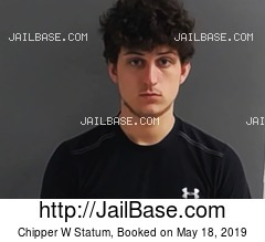 CHIPPER W STATUM mugshot picture