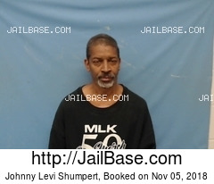 JOHNNY LEVI SHUMPERT mugshot picture