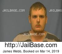 JAMES WEBB mugshot picture
