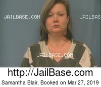 SAMANTHA BLAIR mugshot picture