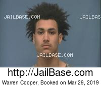 WARREN COOPER mugshot picture