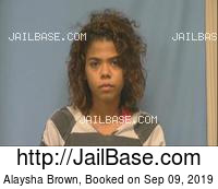 ALAYSHA BROWN mugshot picture