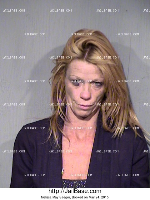 MELISSA MAY SAEGER mugshot picture