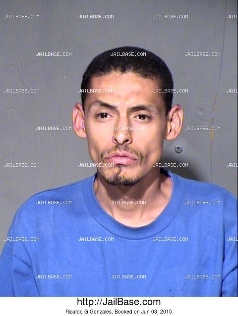 RICARDO G GONZALES mugshot picture