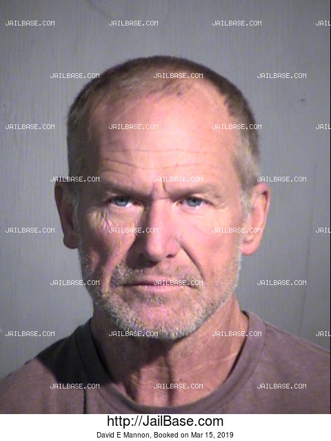David E Mannon mugshot picture