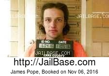 James Pope mugshot picture