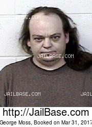 George Moss mugshot picture