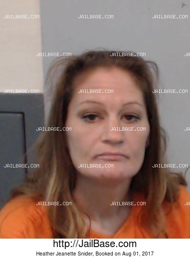 HEATHER JEANETTE SNIDER mugshot picture