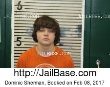 Dominic Sherman mugshot picture
