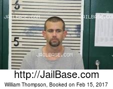 William Thompson mugshot picture