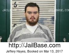 Jeffery Hayes mugshot picture