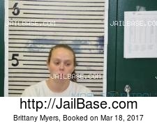 Brittany Myers mugshot picture