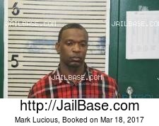 Mark Lucious mugshot picture