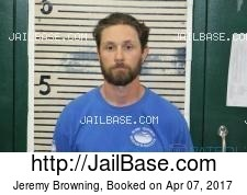 Jeremy Browning mugshot picture