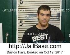 Duston Hays mugshot picture