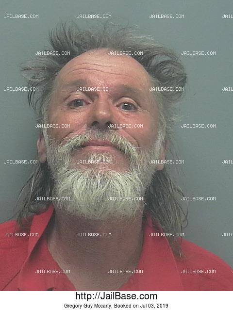 GREGORY GUY MCCARTY mugshot picture