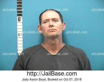 JODY AARON BOYD mugshot picture