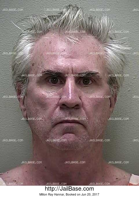 MILTON RAY HANNAR mugshot picture