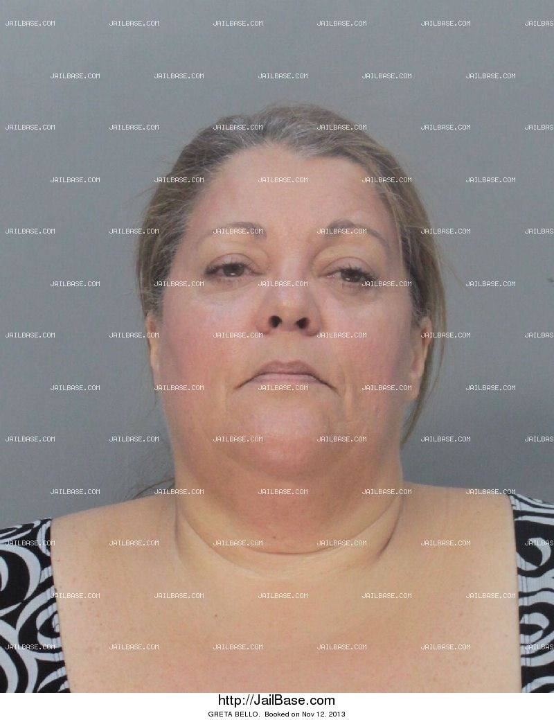 greta bello mugshot picture