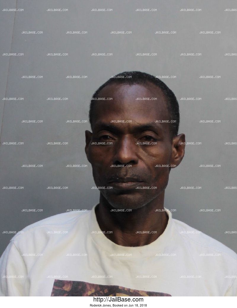 RODERICK JONES mugshot picture