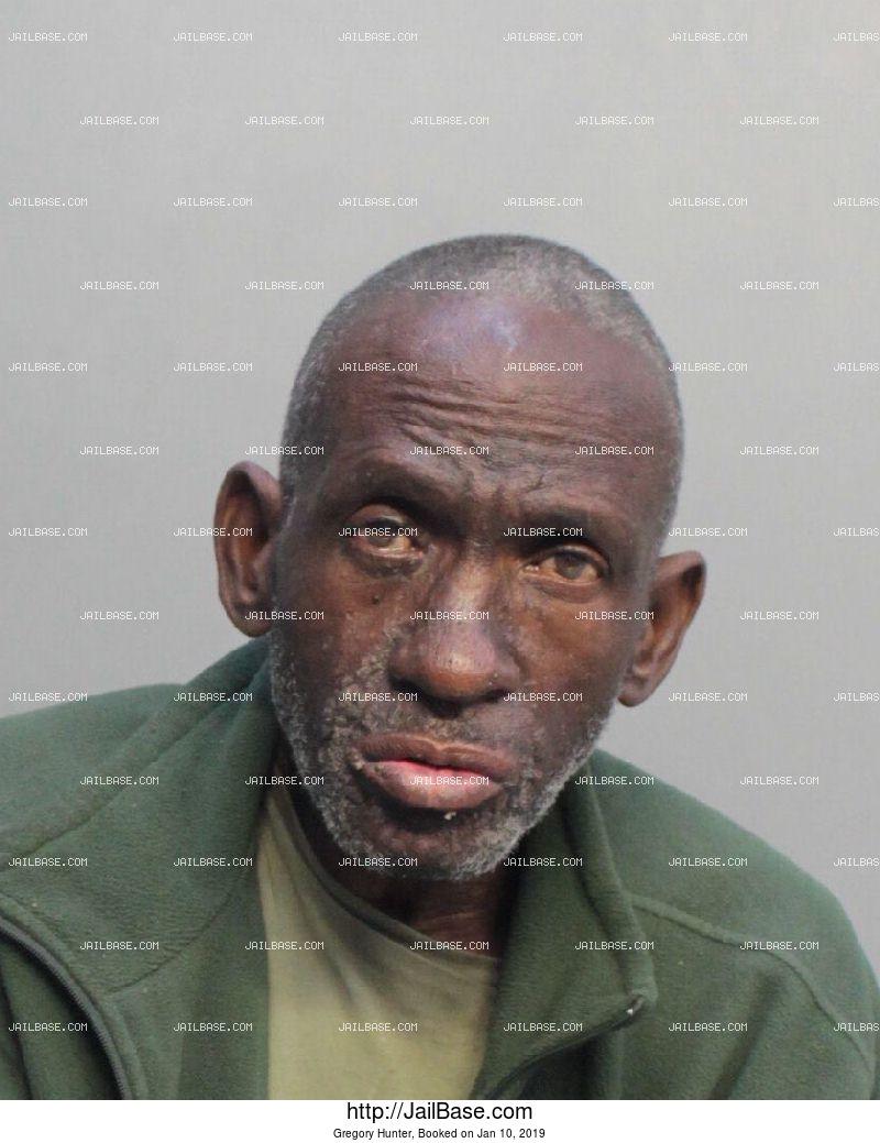GREGORY HUNTER mugshot picture