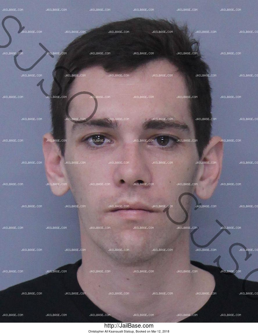 CHRISTOPHER ALL KAANAUALII STALCUP mugshot picture