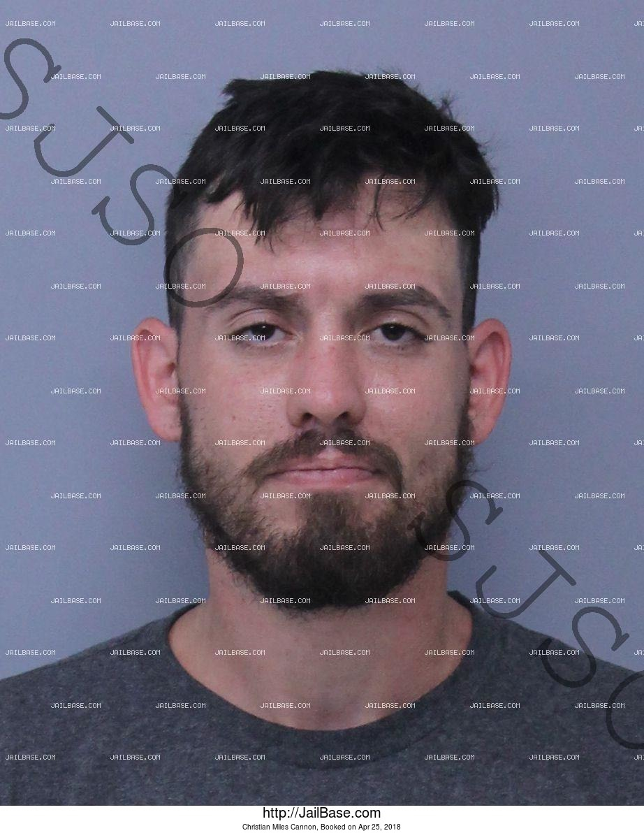 CHRISTIAN MILES CANNON mugshot picture