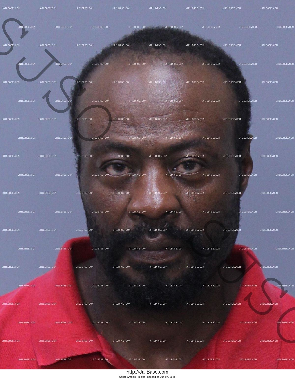 CARLOS ANTONIO PRESTON mugshot picture