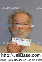 David Howe mugshot picture