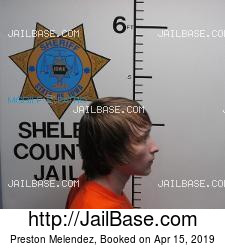 Preston Melendez mugshot picture
