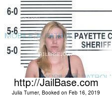 Julia Turner mugshot picture