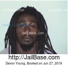 Devon Young mugshot picture