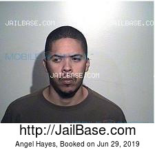 Angel Hayes mugshot picture