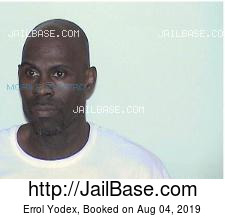Errol Yodex mugshot picture