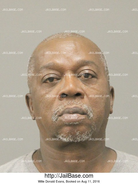 WILLIE DONALD EVANS mugshot picture