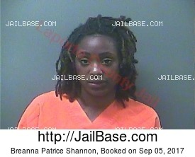 BREANNA PATRICE SHANNON mugshot picture