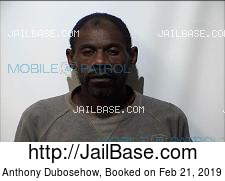 Anthony Dubosehow mugshot picture