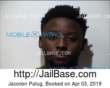 Jacorion Patug mugshot picture