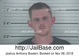 JOSHUA ANTHONY BRADEN mugshot picture