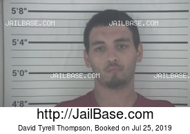 DAVID TYRELL THOMPSON mugshot picture