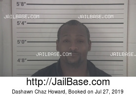 DASHAWN CHAZ HOWARD mugshot picture