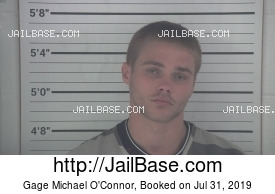 GAGE MICHAEL O'CONNOR mugshot picture