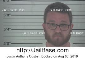 JUSTIN ANTHONY GUSBER mugshot picture